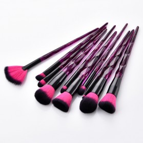 Anmor Diamond Brush Make Up 10 Set - AWK-566 - Purple - 3