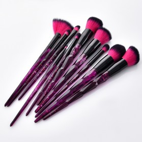 Anmor Diamond Brush Make Up 10 Set - AWK-566 - Purple - 4