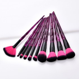 Anmor Diamond Brush Make Up 10 Set - AWK-566 - Purple - 5
