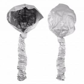 Tudung Bonnet Pengering Rambut Hair Dryer Attachment Hood Cap - Silver