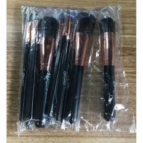 Wooden Brush Make Up 10 Set - Black - 3