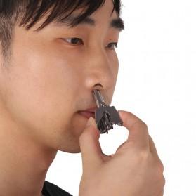 Kemei Trimmer Cukur Bulu Hidung Manual - KM-108 - Silver - 5