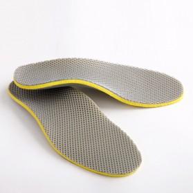 Sol Sepatu 3D Premium Orthotics Flat Foot Size L - Gray/Yellow - 2