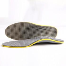 Sol Sepatu 3D Premium Orthotics Flat Foot Size L - Gray/Yellow - 3