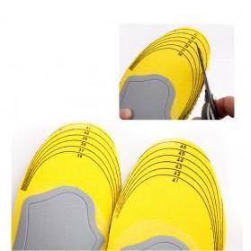Sol Sepatu 3D Premium Orthotics Flat Foot Size L - Gray/Yellow - 4