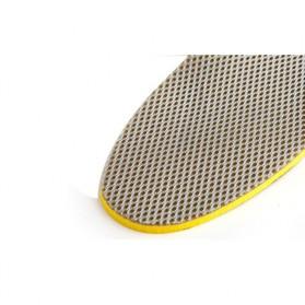 Sol Sepatu 3D Premium Orthotics Flat Foot Size L - Gray/Yellow - 5