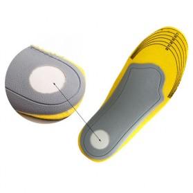 Sol Sepatu 3D Premium Orthotics Flat Foot Size L - Gray/Yellow - 6