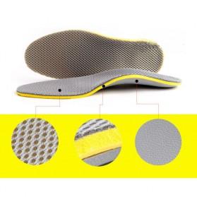 Sol Sepatu 3D Premium Orthotics Flat Foot Size L - Gray/Yellow - 7