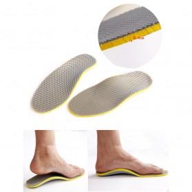 Sol Sepatu 3D Premium Orthotics Flat Foot Size L - Gray/Yellow - 8