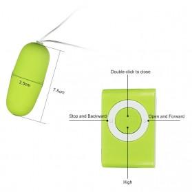 Egg Tickler Vibrator Wireless Alat Pijat Elektrik Multifungsi with Remote QY-013 - Black - 3