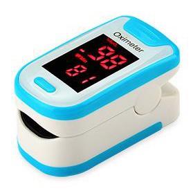 Alat Pengukur Detak Jantung Fingertip Pulse Oximeter - Blue