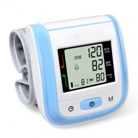 Gelang Pengukur Tekanan Darah Elektronik Sphygmomanometer Blood Pressure - Blue