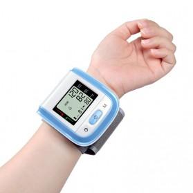 Gelang Pengukur Tekanan Darah Elektronik Sphygmomanometer Blood Pressure - Blue - 2