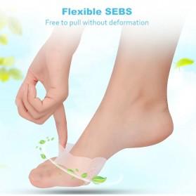 Alas Kaki Sepatu Shock Absorb Silicone Gel Anti Slip Insoles 2 PCS - MJ003 - Cream - 6
