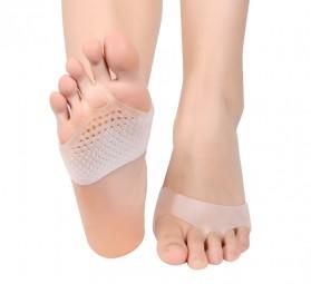 Alas Kaki Sepatu Shock Absorb Silicone Gel Anti Slip Insoles 2 PCS - MJ003 - Cream - 7