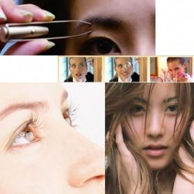 Pinset Pencabut Alis Eyebrow Tweezer with LED Light - BFT007 - Silver - 4