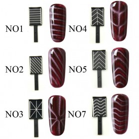 Cat Eye Magnet Sticks Nail Art for Magnetic Gel Polish - Pattern 08 - 3