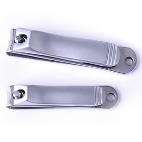 Gunting Kuku Nail Trimmer Manicure 2 PCS - DG-SHJ77-2 - Silver