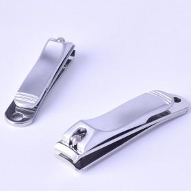 Gunting Kuku Nail Trimmer Manicure 2 PCS - DG-SHJ77-2 - Silver - 3