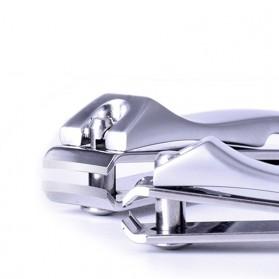 Gunting Kuku Nail Trimmer Manicure 2 PCS - DG-SHJ77-2 - Silver - 4