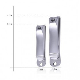 Gunting Kuku Nail Trimmer Manicure 2 PCS - DG-SHJ77-2 - Silver - 5