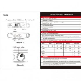 Digital Food Thermometer Daging Makanan Kitchen Cooking BBQ - DTH-128 - Black - 5