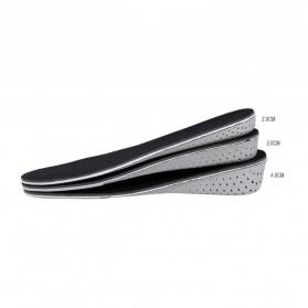 Sol Dalam Sepatu Memory Cotton Heel 4CM - E002 - Black - 8