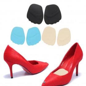Insole 3D Alas Kaki Sepatu Depan Silicone Gel Liner Grip Wanita - ZYD17 - Black