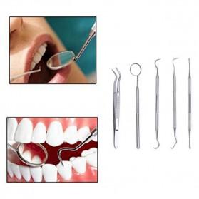 Peralatan Oral Diagnostik Perawatan Dokter Gigi Dental Care 5 in 1 - 7CKQ01 - Silver - 2