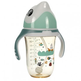 Botol Susu Bayi PPSU Silicon Model Dolphin Newborn 280ml - RY-13130 - Green