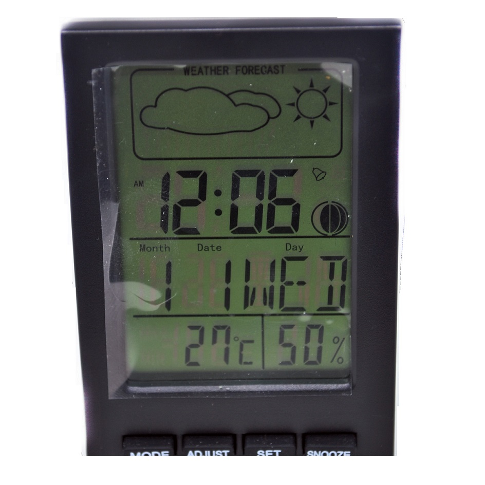 Digital Multifunction Thermometer and Hygrometer with Clock Alarm, Date, Week Calender - DTH- ...