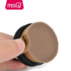MSQ Kuas Make Up Circle Shape Foundation Brush 35 Angle with Stand - Black - 3