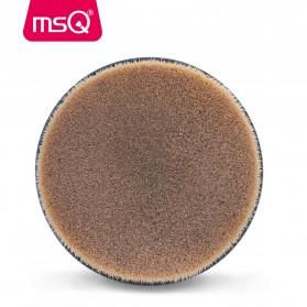 MSQ Kuas Make Up Circle Shape Foundation Brush 35 Angle with Stand - Black - 4