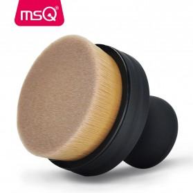 MSQ Kuas Make Up Circle Shape Foundation Brush 35 Angle with Stand - Black - 5