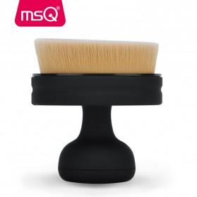 MSQ Kuas Make Up Circle Shape Foundation Brush 35 Angle with Stand - Black - 6