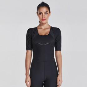 Vansydical Rompi Korset Pelangsing Hot Shaper Push Up Slimming Vest - Size S - Black - 4