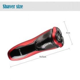 Kemei Alat Cukur Elektrik Shaver Trimmer Razor - KM-9013 - Red - 5