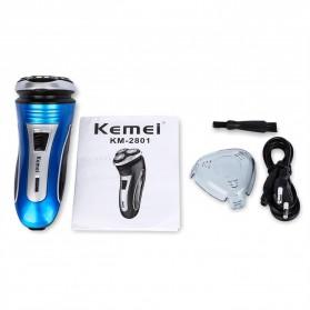 Kemei Alat Cukur Elektrik 3D Shaver Trimmer Razor - KM-2801 - 6