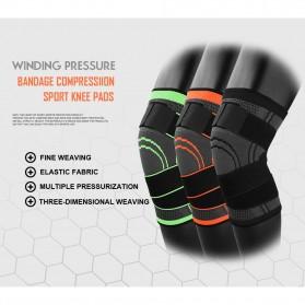 AOLIKES Pelindung Lutut Olahraga Knee Support Fitness Size L - A-7720 - Black - 8