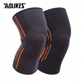 AOLIKES Pelindung Lutut Knee Support Pad Braces Fitness Size M - 7719 - Black - 4
