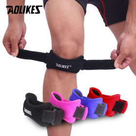 AOLIKES Pelindung Lutut Olahraga Knee Support Brace Wrap - A-7919 - Black