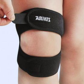AOLIKES Pelindung Lutut Olahraga Fitness Knee Support Brace Guard - A-7929 - Black - 2
