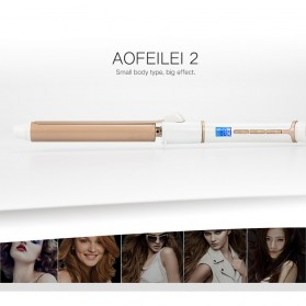 AOFEILEI Catok Rambut Keriting Curler Roller 360 Rotate - X818 - Golden - 3