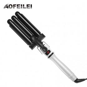AOFEILEI Catok Rambut Triple Barrels Wave Curly Hair - X8822B - Black