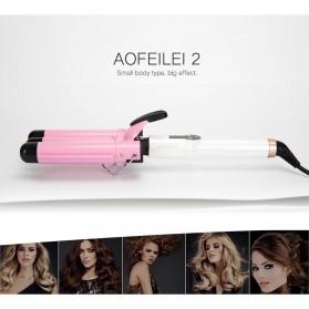 AOFEILEI Catok Rambut Triple Barrels Wave Curly Hair - X8822C - Pink - 2