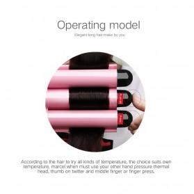 AOFEILEI Catok Rambut Triple Barrels Wave Curly Hair - X8822C - Pink - 8