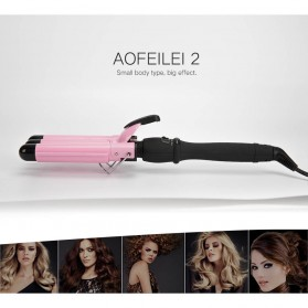 AOFEILEI Catok Rambut Triple Barrels Wave Curly Hair - X8822A - Pink - 2