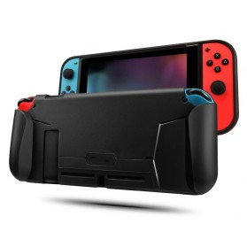 MEO Casing TPU Grip Handle with Game Card Slot Storage for Nintendo Switch - YXPJ00805BK - Black