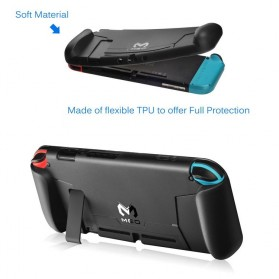 MEO Casing TPU Grip Handle with Game Card Slot Storage for Nintendo Switch - YXPJ00805BK - Black - 2
