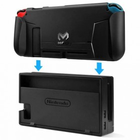 MEO Casing TPU Grip Handle with Game Card Slot Storage for Nintendo Switch - YXPJ00805BK - Black - 3